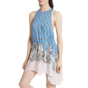 Free People Rendezvous Dress Asymmetric Side Tie S